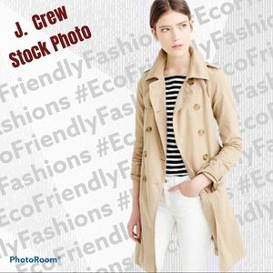 J.Crew Natural Washed Cotton Trench Coat